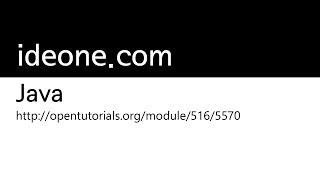 JAVA - 이클립스의 기능과 예제의 사용방법2 - ideone