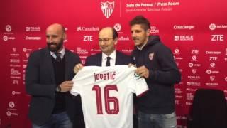 Presentación de Jovetic con el Sevilla