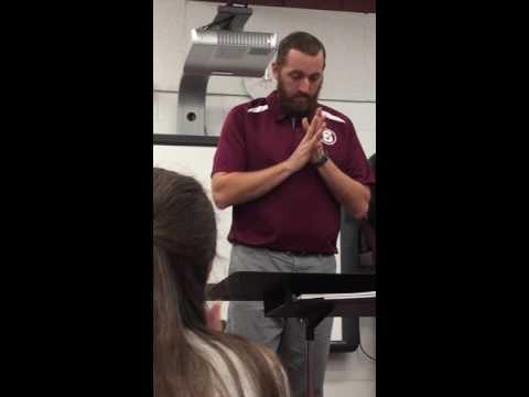 Sayre High School band teacher raps about marching