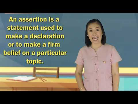 English 10- Opinions and Assertions