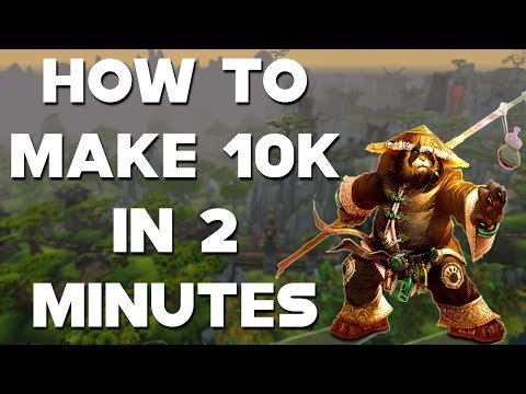 World Of Warcraft Gold Farm How To Make 10,000 Gold In 2 Minutes