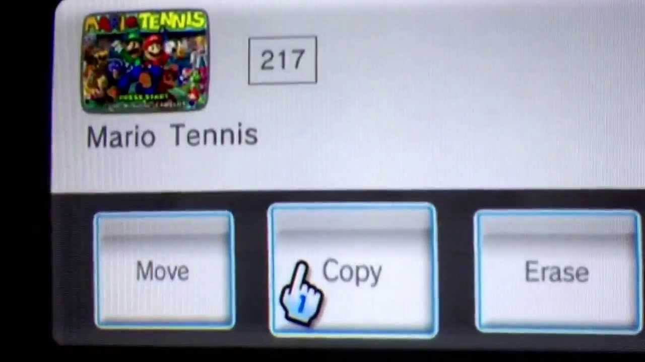 Installing wads to Wii using the homebrew channel and me playing one round  of Mario Tennis