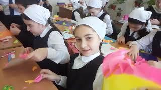 Урок труда в 4з классе Гимназии 1 (41школа). 20февраля19г. Учитель - Музаев Султан Магомедович
