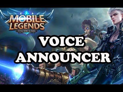 MOBILE LEGENDS FULL PACK VOICE ANNOUNCER