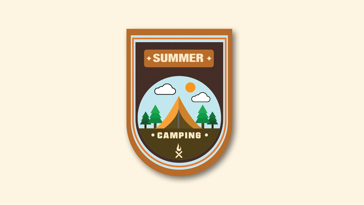 Illustrator tutorial summer camp logo design youtube for Design lago
