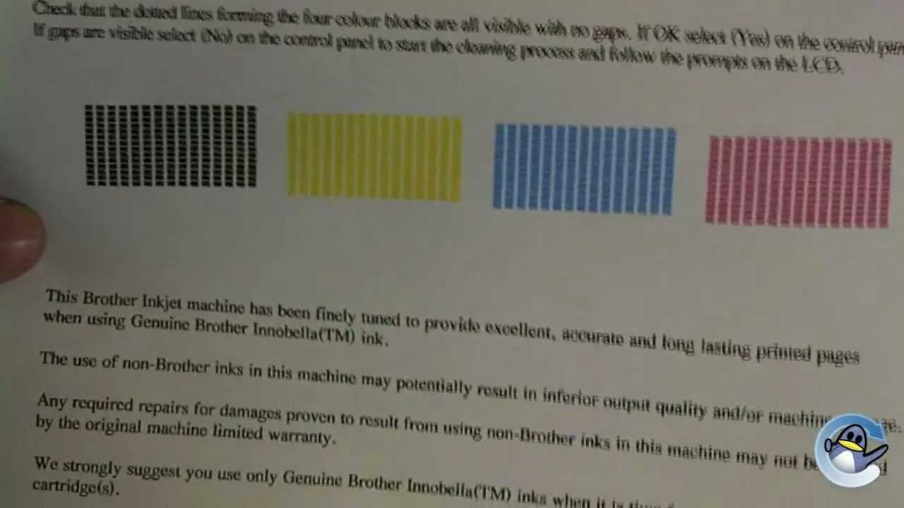How To Do A Test Print From Brother DCP J525W Printer
