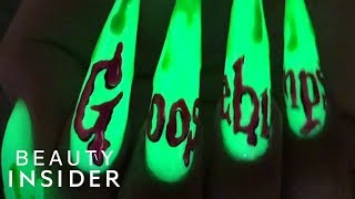 Nail Art Glows In The Dark