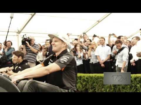 F1 Drivers 500m rowing erg race