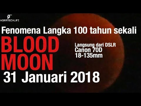 "Detik Detik Gerhana Bulan ""Super Blue Blood Moon"" Ft. Canon 70d 18-135mm - 31 Januari 2018"