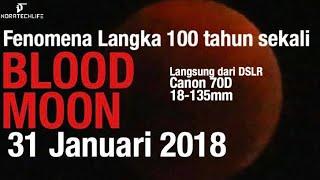 "Detik Detik Gerhana Bulan ""Super Blue Blood Moon"" Ft. Canon 70d 18-135mm - 31 Januari 2018"