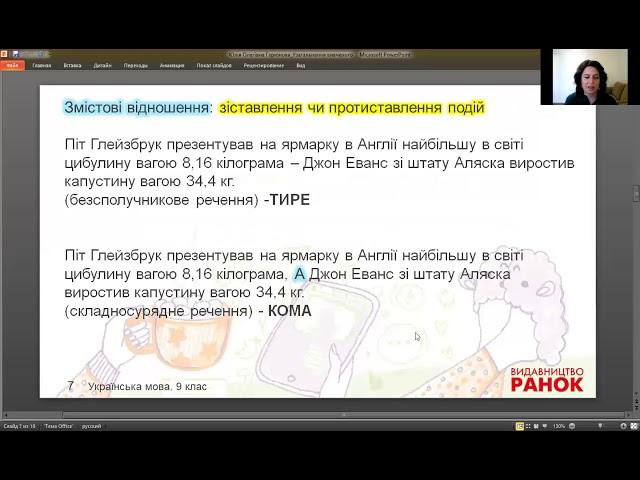 9 клас. Українська мова. Складне речення. Урок-узагальнення