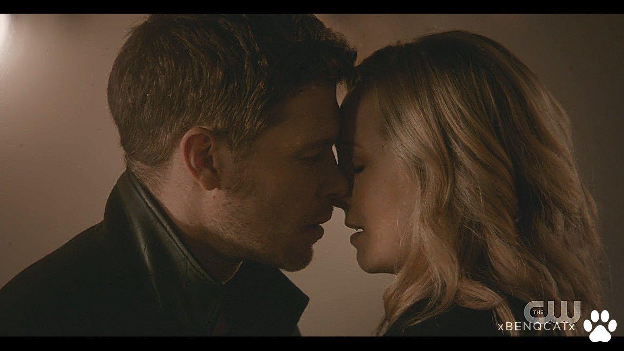 Klaus and caroline all kisses
