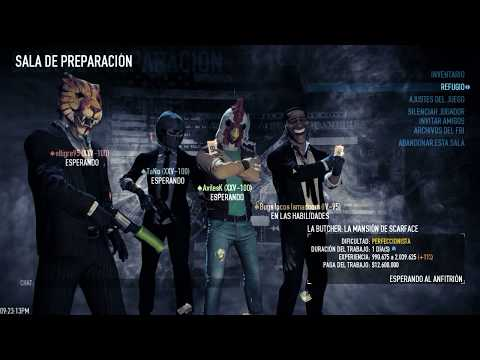 Payday 2 La mansion de scarface ONE DOWN