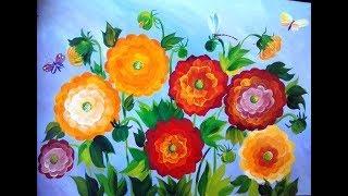 Рисуем георгины. Уроки художника Зинаиды Голубевой.