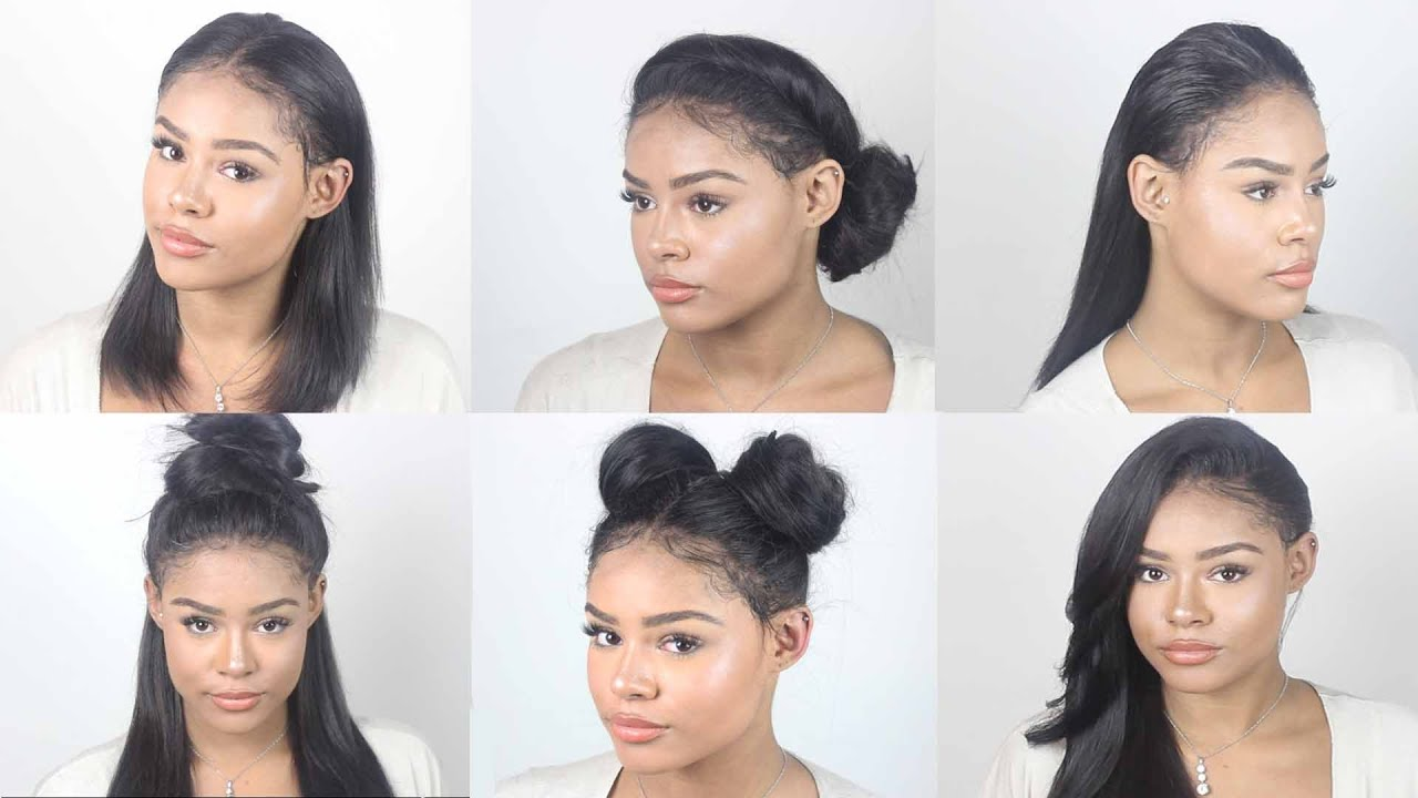 VERSATILE Lace Frontal Sew In Tutorial No Hair out No - Cute Sew In Hairstyles