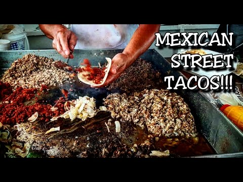 MEXICAN STREET TACOS: – ORIGINAL MEXICAN FOOD – MUKBANG AT IT'S BEST!
