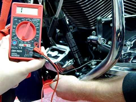 3phase Alternator Stator Charging System testing with a DVOM meter on a motorcycle Road King