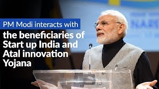 PM Modi interacts with the beneficiaries of Start up India and Atal innovation Yojana, via VC thumbnail