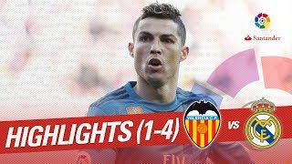 Resumen de Valencia CF vs Real Madrid (1-4)