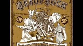 Aesop Rock : Fast cars, Danger, Fire & Knifes