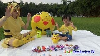 GIANT EGG SURPRISE POKEMON - Săn Pokemon Go và giải cứu Pokemon ❤ AnAn ToysReview TV ❤