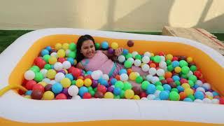 swimming pool colored balls