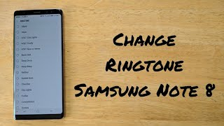 How to change the ringtone on samsung galaxy note 8. this is way sound you hear when someone calling tutorial vid...