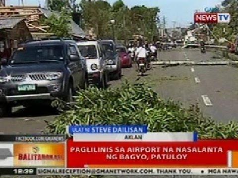 BT: Lawak ng pinsala ng Bagyong Yolanda sa Aklan, tumambad sa kalsada