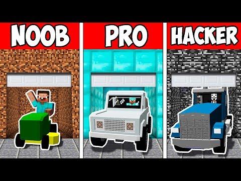 Minecraft NOOB vs PRO vs HACKER : SECRET BLOCK GARAGE EVOLUTION in Minecraft Animation |