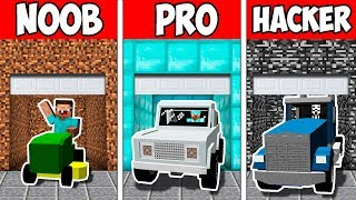 Minecraft NOOB vs PRO vs HACKER : SECRET BLOCK GARAGE EVOLUTION in Minecraft | Animation