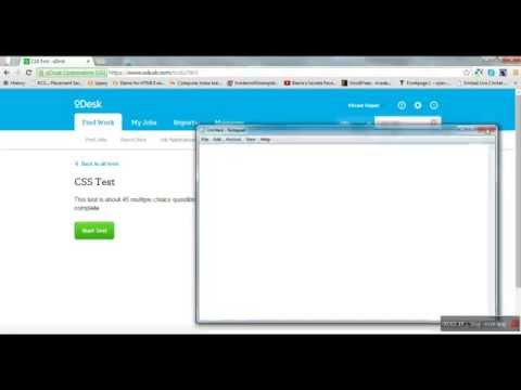 css test odesk test answers