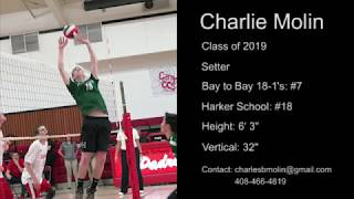 Charlie Molin Class of 2019 Volleyball Highlights