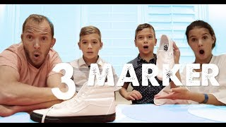 3 MARKER SHOE CHALLENGE | Shoe Makeover with Sharpies!