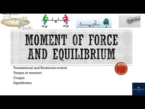 Moment of force and equilibrium [ICSE Physics Class 10]