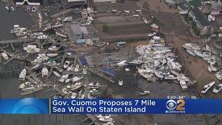 Gov. Cuomo Proposes 7-Mile Sea Wall On Staten Island