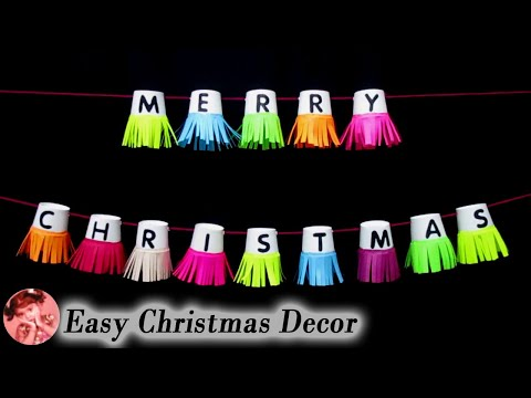 Easy Paper Cup Garland for Christmas | Christmas Decor | Wall Hanging Craft Ideas with Paper Cups