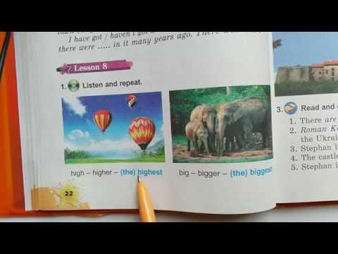 Анлійська мова 4-клас. Несвит. Ст. 22-23