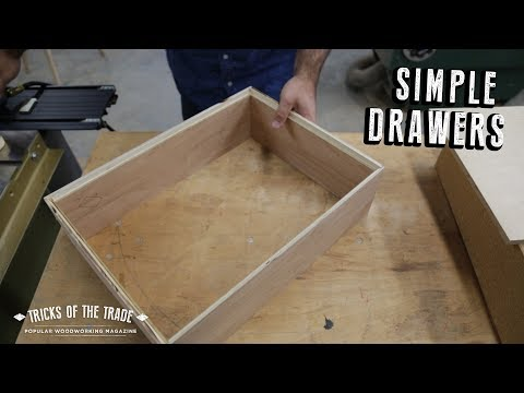 How to Make Simple and Fast Rabbeted Drawers | Tricks of the Trade