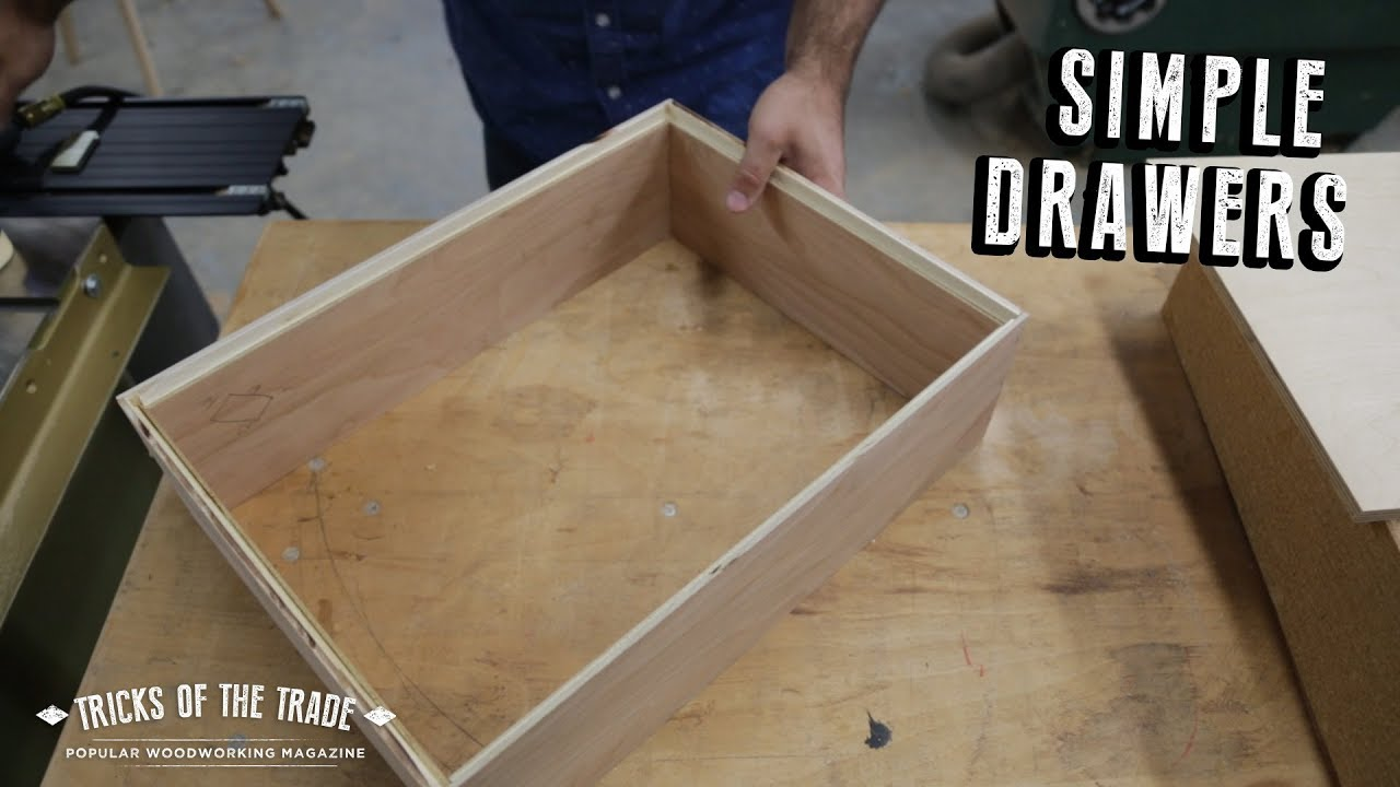 How To Make Simple And Fast Rabbeted Drawers Tricks Of The Trade
