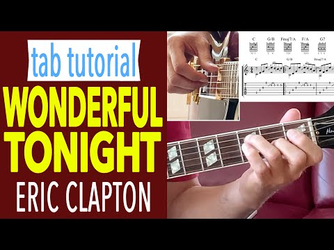 Wonderful Tonight TABS [TUTORIAL] Fingerstyle Guitar Lesson