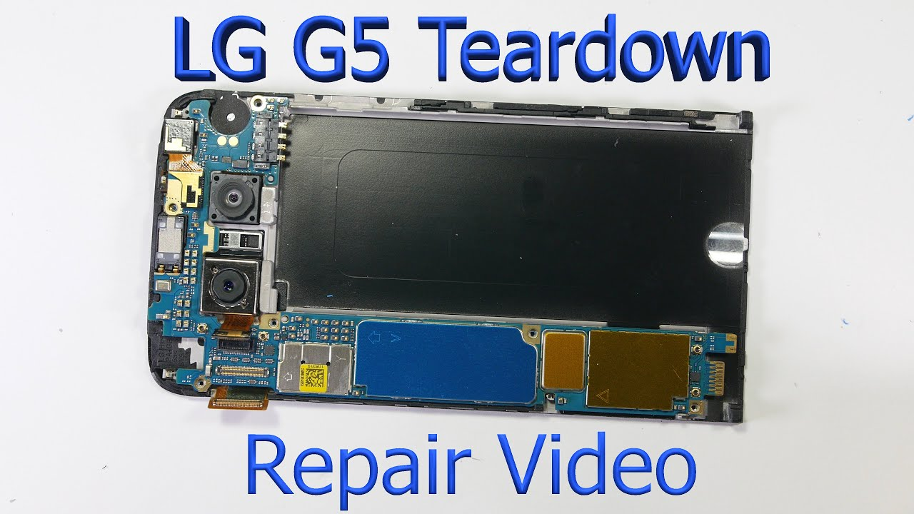 LG G5 Complete Teardown - Screen Replacement - Charging port fix
