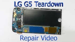 lg g5 complete teardown screen replacement charging port fix