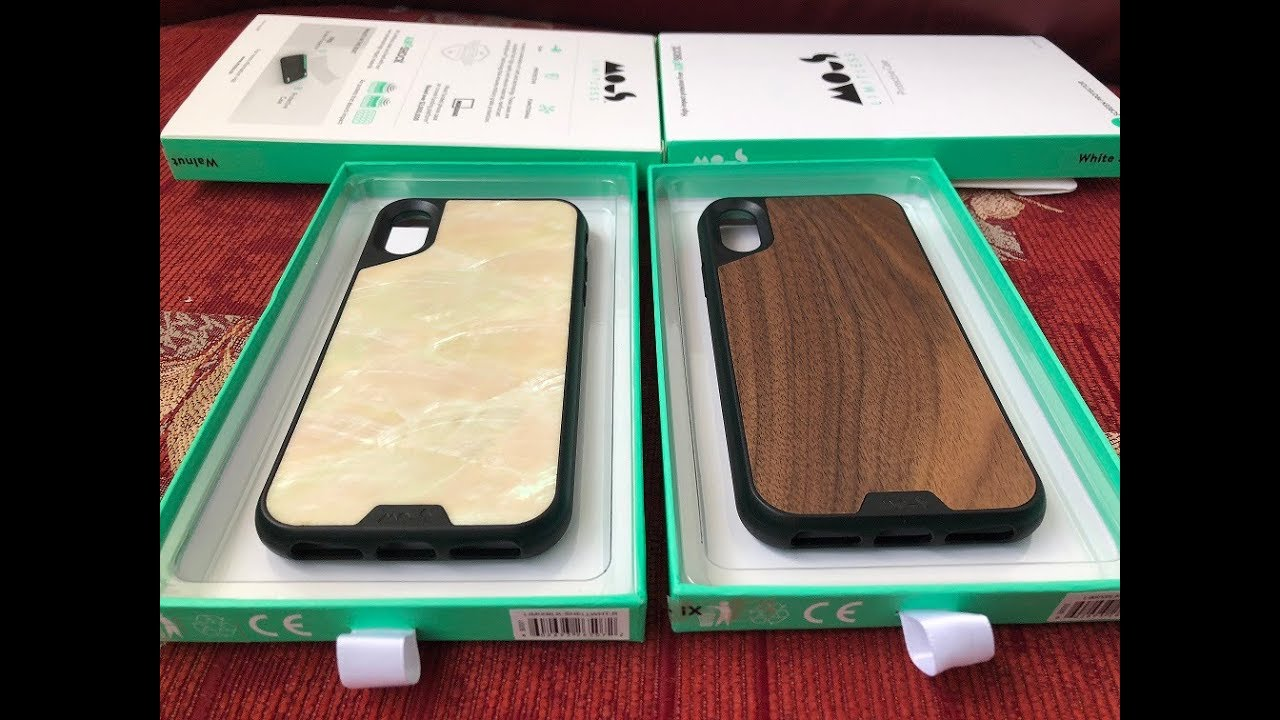 the best attitude 48386 3f4c3 Mous case for Iphone X Shell and Walnut back