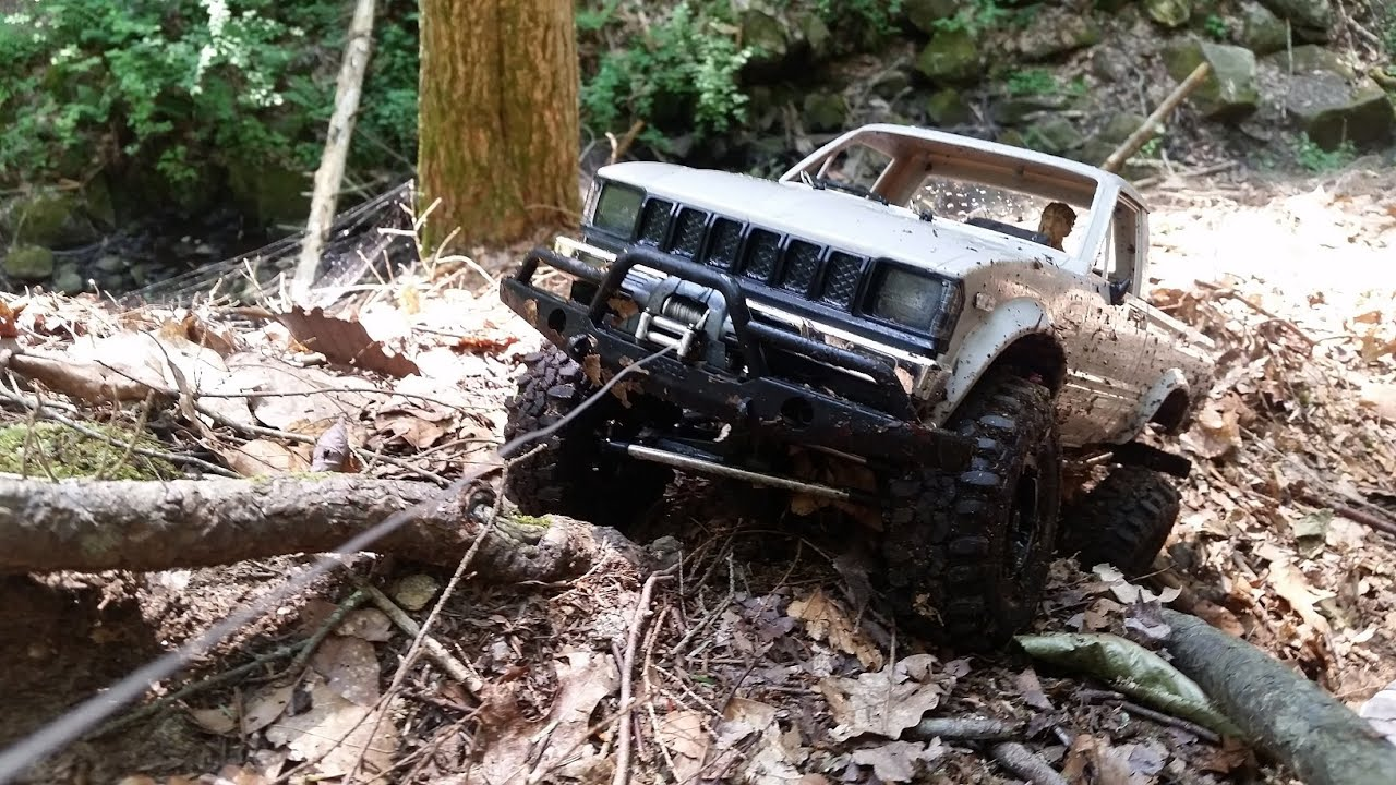 Real World Rc Winch Testing Rc Winch In Action Pulls 4x4 Scx10
