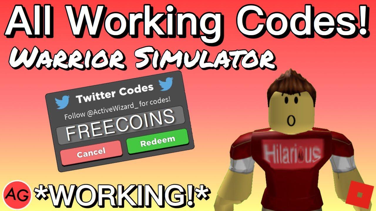 All Working Codes 2019 In Warrior Simulator Rpg Simulator Roblox - roblox warrior simulator all new secret update codes 2019