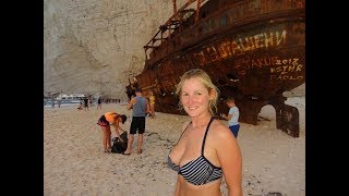 Fun at Navagio ship wreck beach, Zakinthos and sailing to Patras - EP 54 Sailing Seatramp