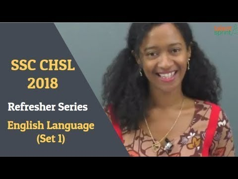 SSC CHSL 2018 - Refresher series | English Language ( Set 1) | TalentSprint