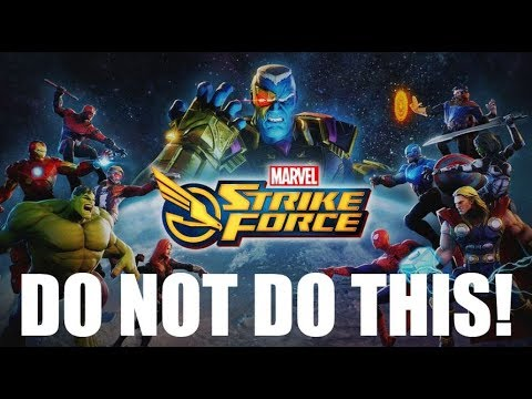 No 1 thing NOT TO DO! - Marvel Strike Force