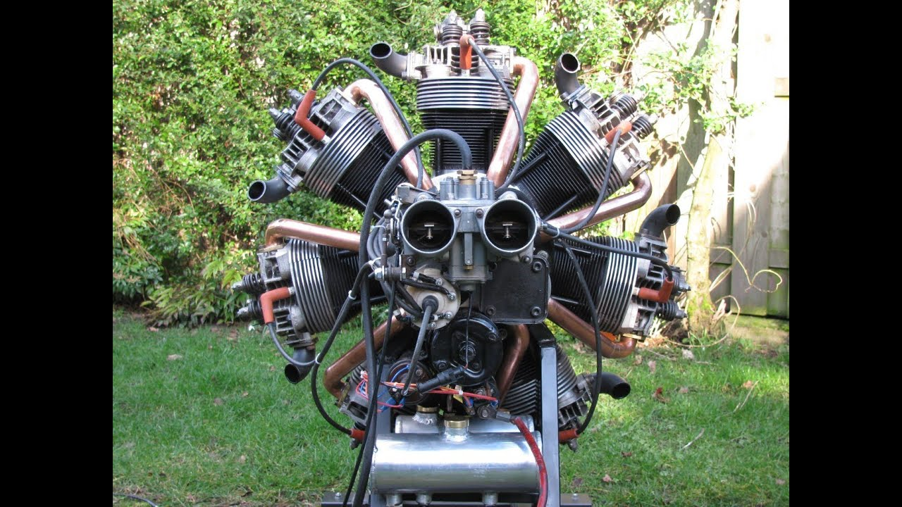 Making and start up of a radial engine of vw parts for Best motor oil for 4 cylinder engines