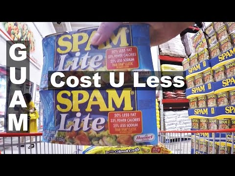 GUAM, Cost U Less in Dededo.  A look inside, shopping!